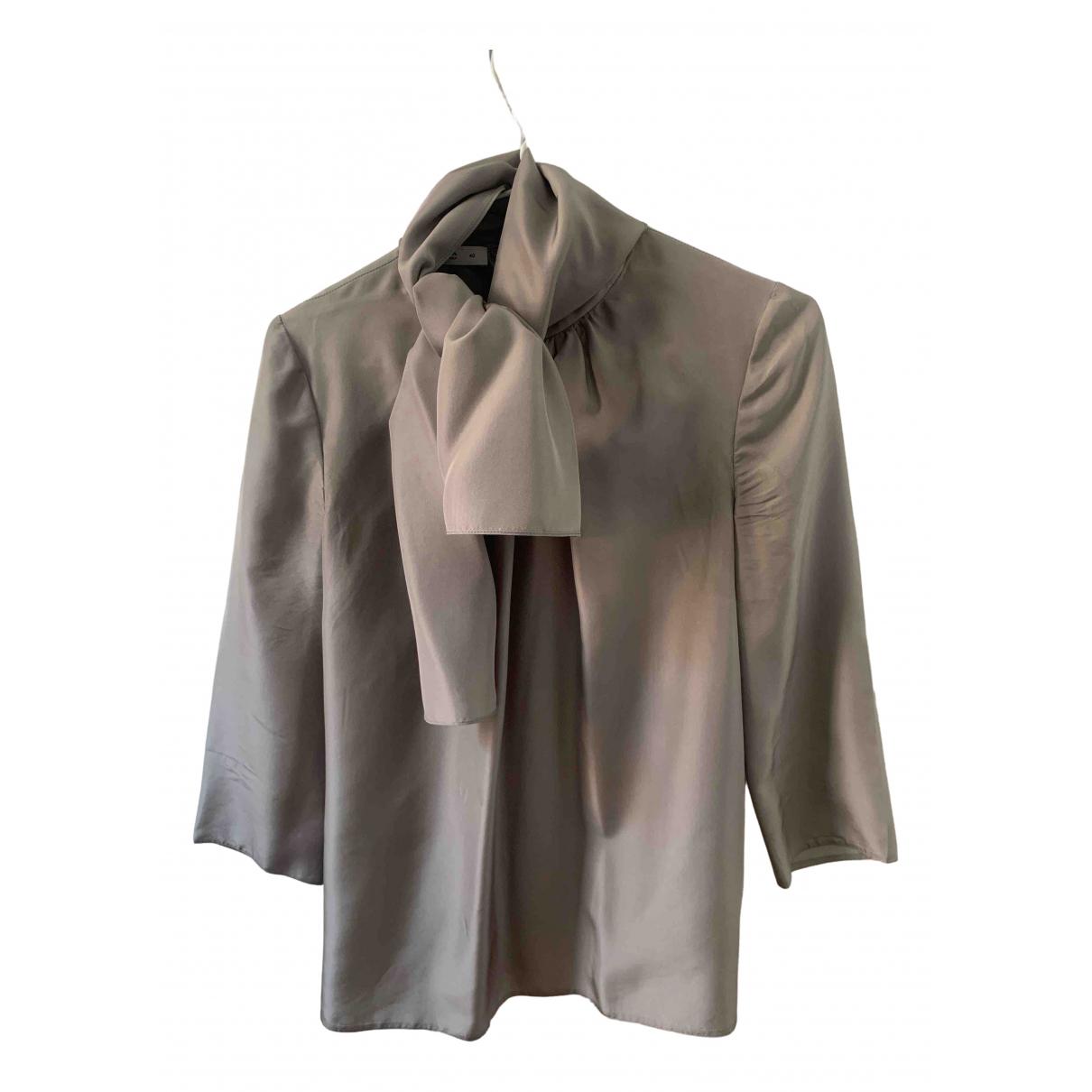 Prada - Top   pour femme en soie - gris