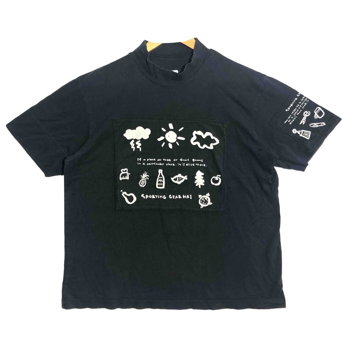 Issey Miyake - Tee shirts   pour homme en coton - noir
