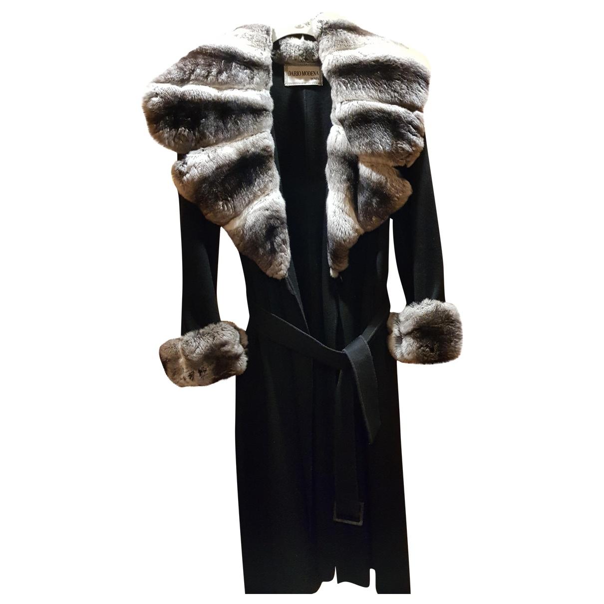 Non Signé / Unsigned \N Black Cashmere coat for Women 48 IT