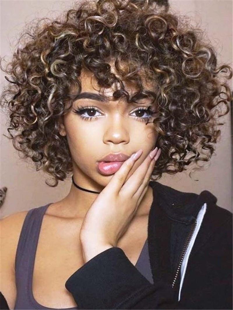 Ericdress Medium Kinky Curly Synthetic Hair Women Wig