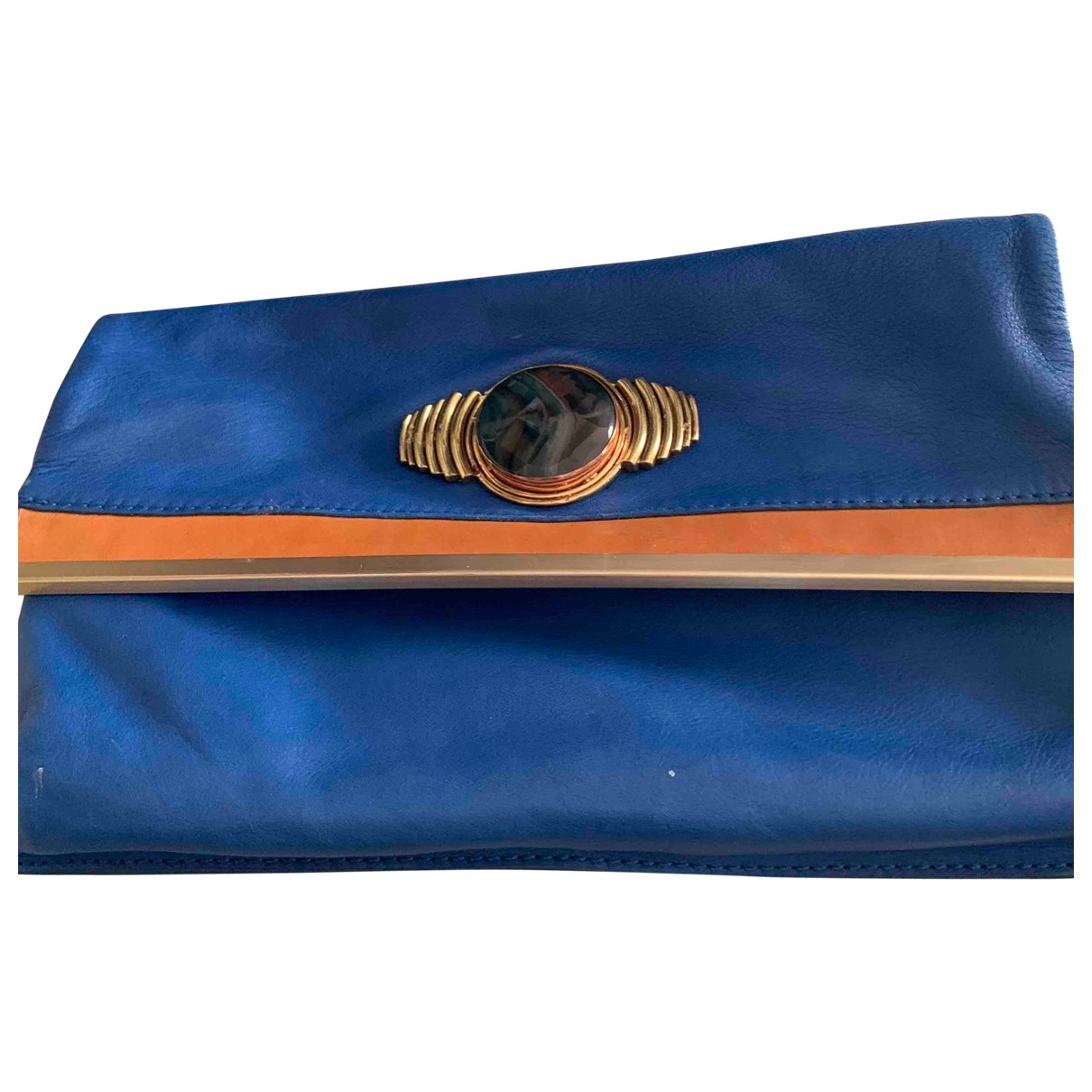 Uterque \N Blue Leather Clutch bag for Women \N
