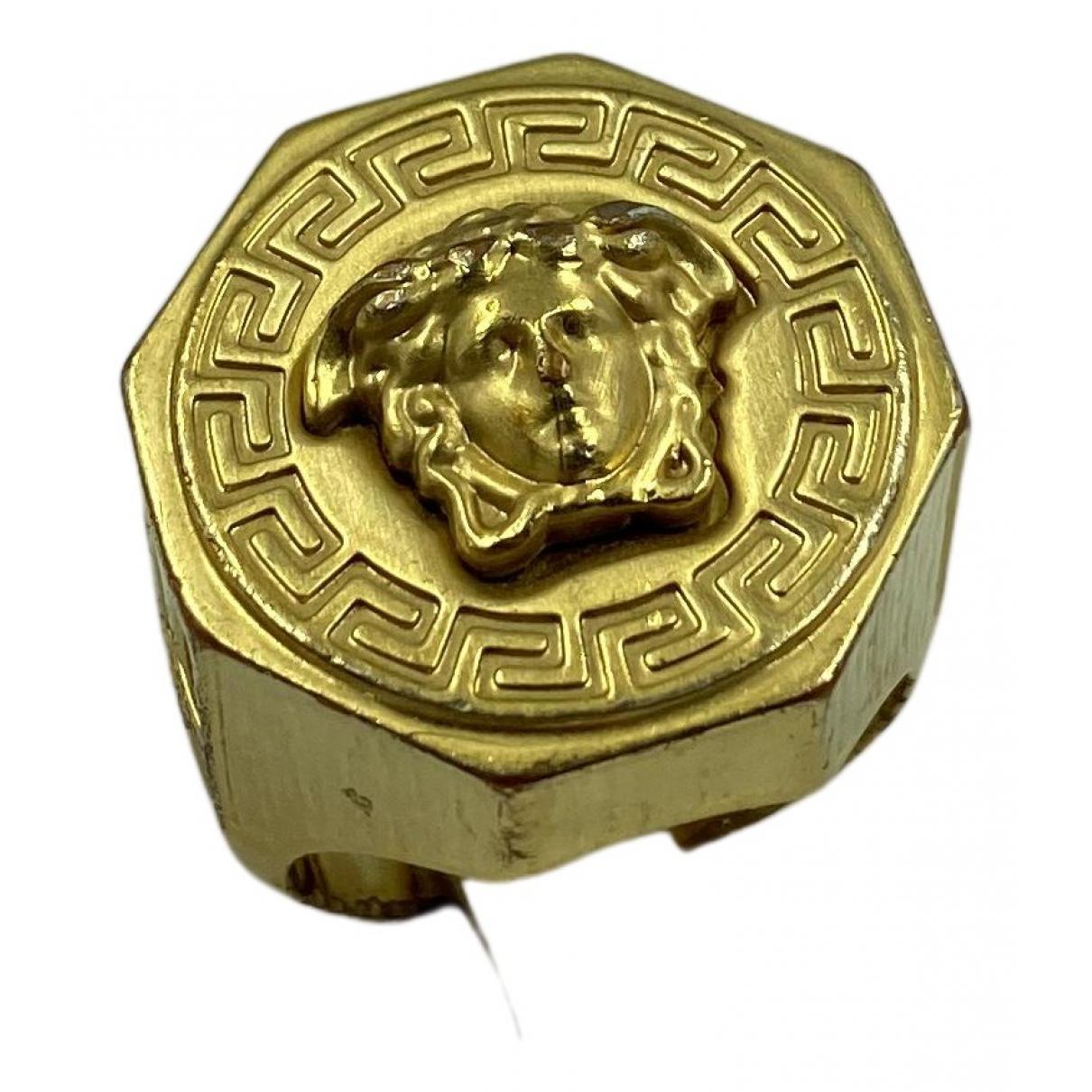 Versace - Bijoux Medusa pour homme en or et acier - jaune
