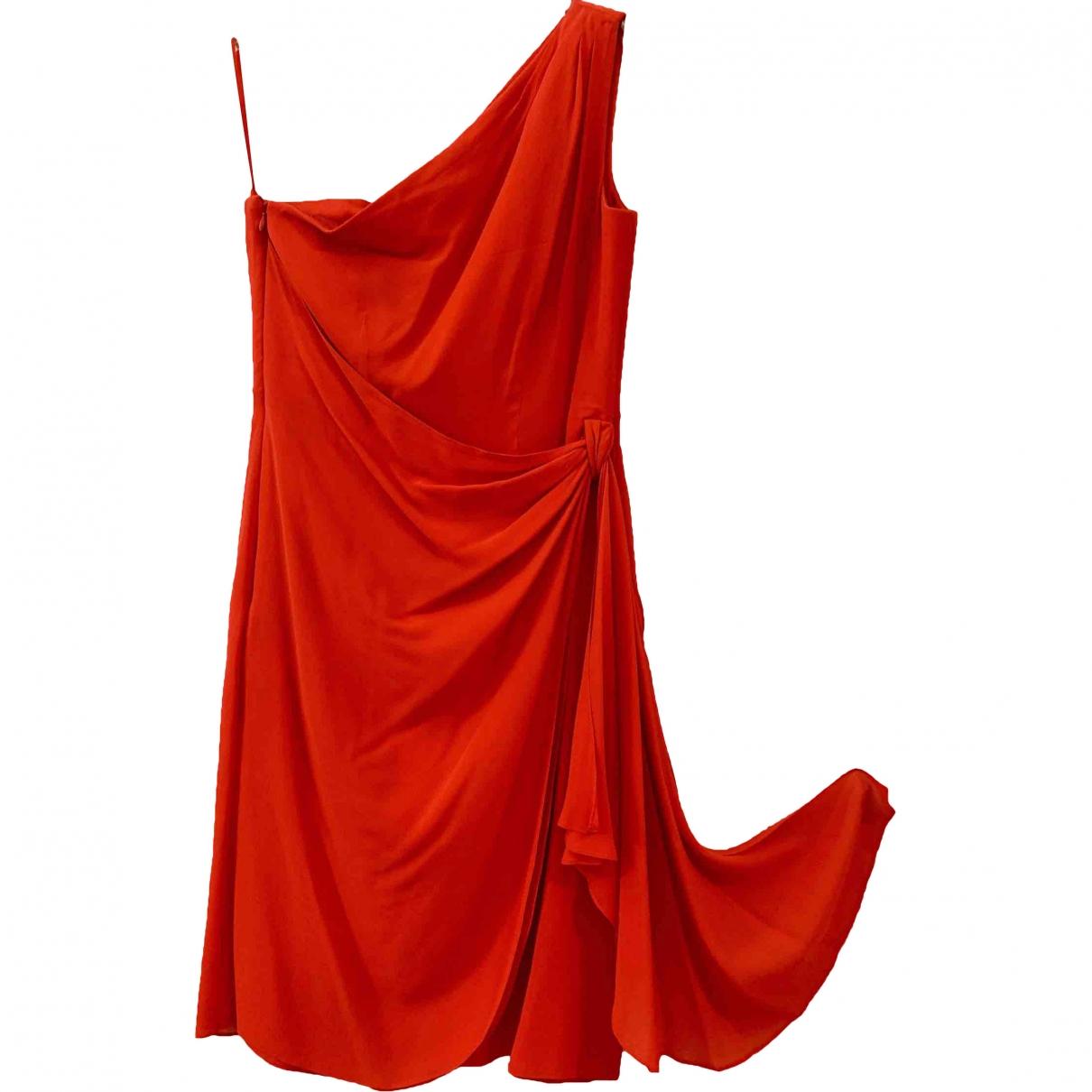 Escada \N Kleid in  Rot Seide