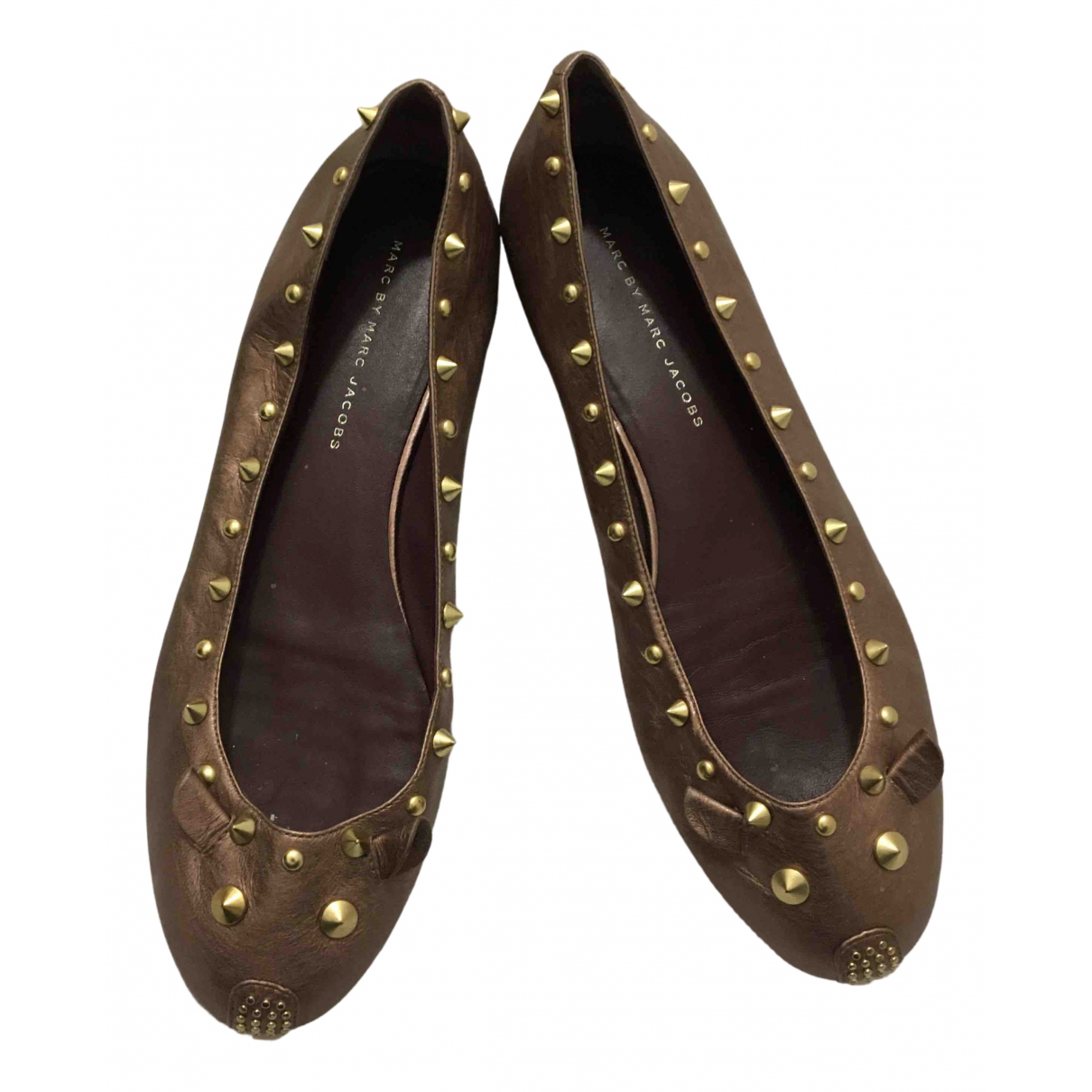 Marc By Marc Jacobs \N Ballerinas in  Metallic Leder