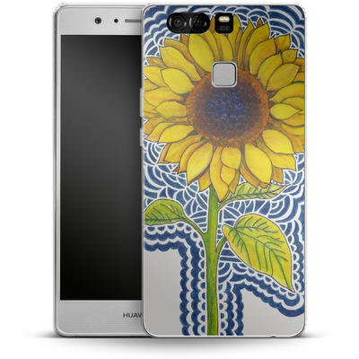 Huawei P9 Silikon Handyhuelle - Sunflower Drawing von Kaitlyn Parker