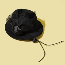 1pc Dog Solid Top Hat