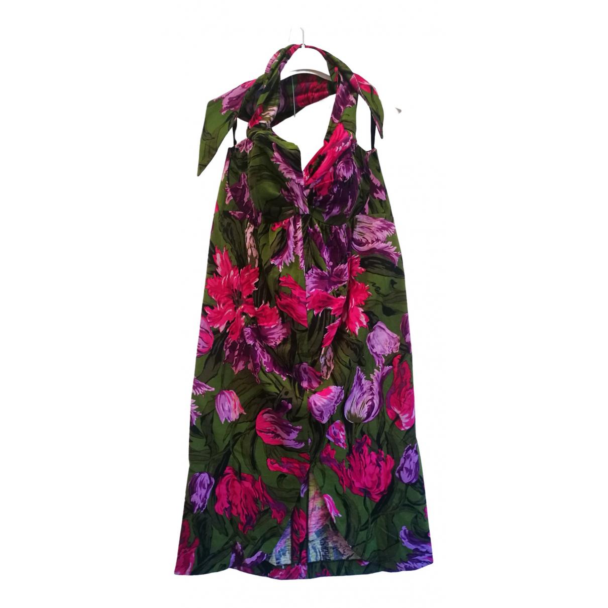 Non Signe / Unsigned \N Kleid in  Gruen Baumwolle - Elasthan