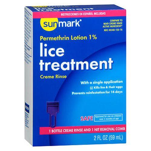 Sunmark Lice Treatment Creme Rinse 2 Oz by Sunmark