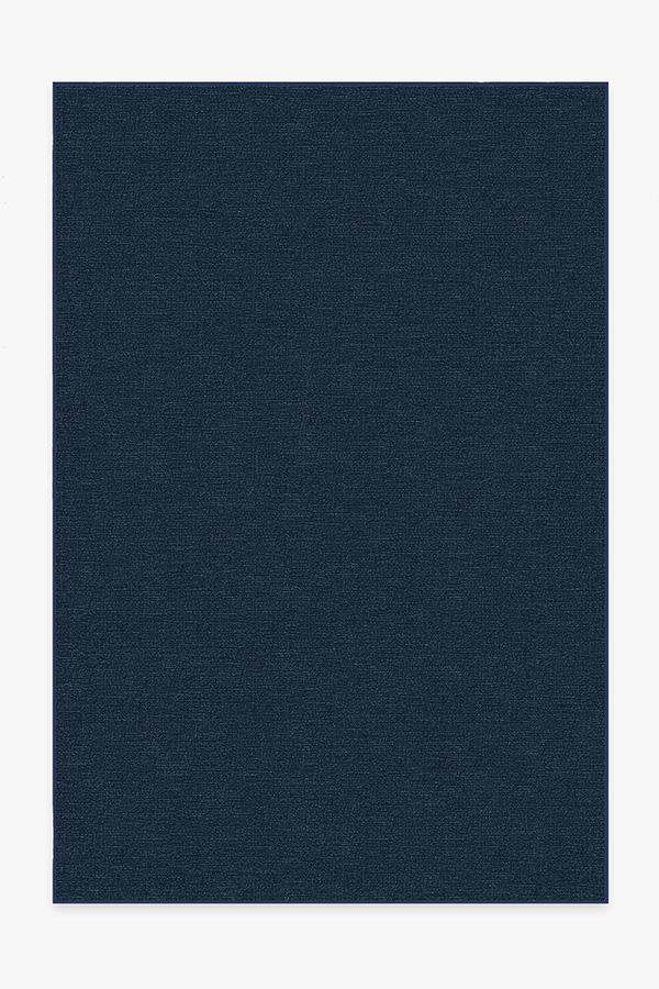 Washable Rug Cover | Heathered Solid Navy Rug | Stain-Resistant | Ruggable | 6x9