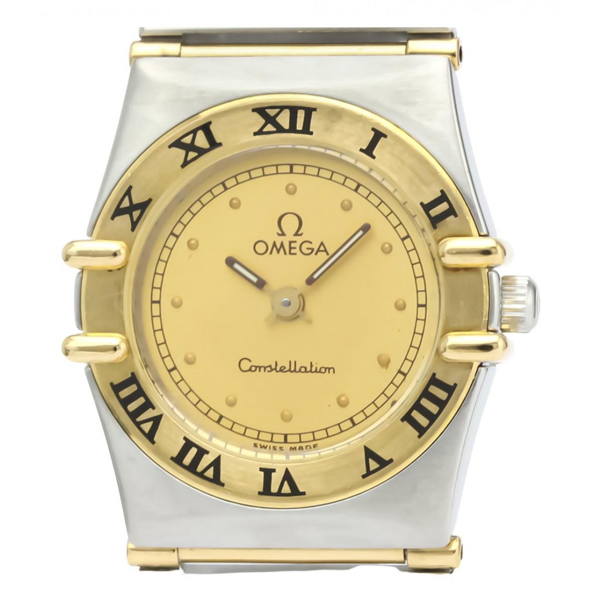 Omega - Montre Constellation pour femme en or et acier - dore