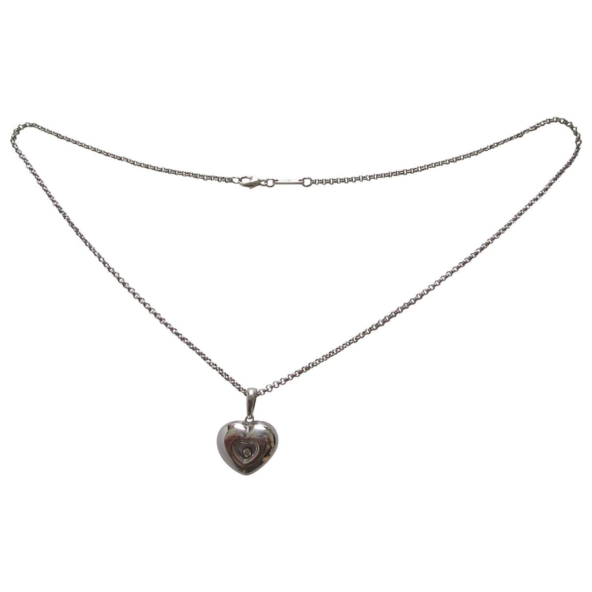 Chopard Happy Diamonds Kette in  Grau Weissgold