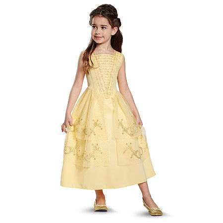 Disney Beauty and the Beast - Belle Ball Gown Classic Child Costume, Small , Yellow