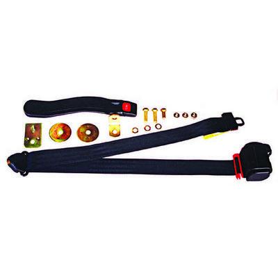 Omix-ADA 3-Point Retractable Harness Seatbelt in Black (Black) - 13202.01