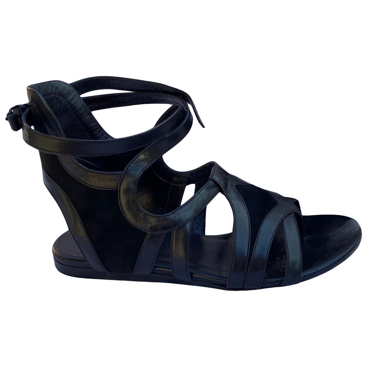 Sandalias romanas de Cuero Balenciaga