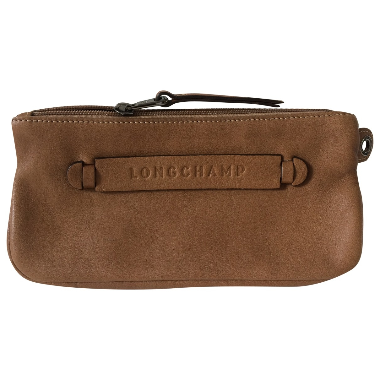 Longchamp \N Camel Leather Clutch bag for Women \N