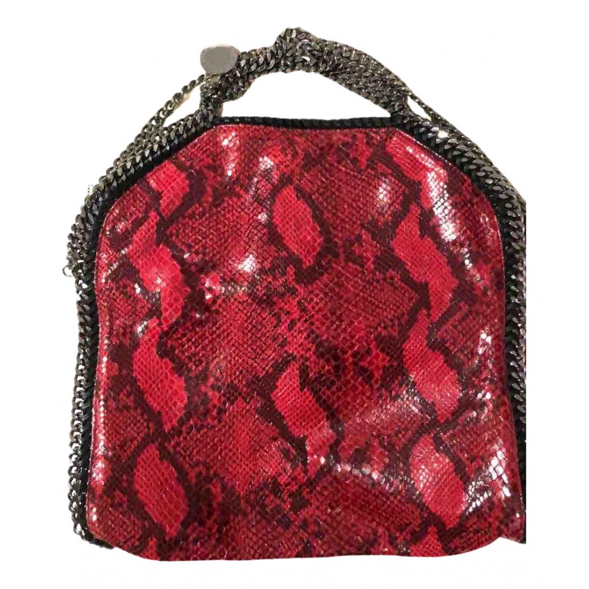 Stella Mccartney Falabella Handtasche in  Rot Leinen