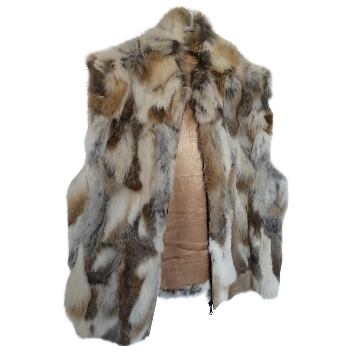 Non Signé / Unsigned \N Beige Rabbit Knitwear for Women 40 FR