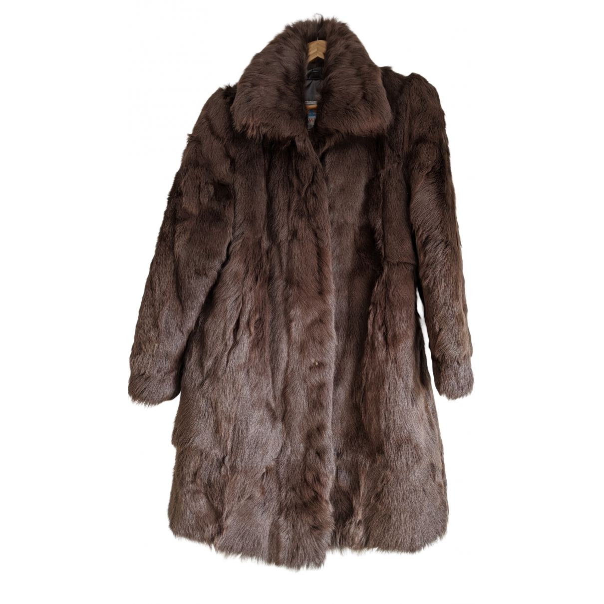 - Manteau Hippie Chic pour femme en fourrure - marron