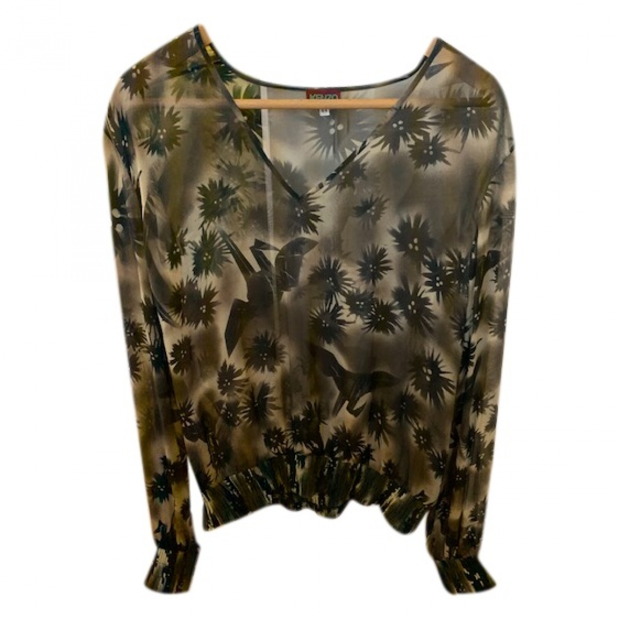 Kenzo \N Black Silk  top for Women 44 FR