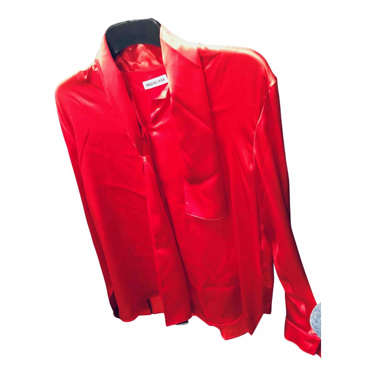 Balenciaga N Red Silk  top for Women 36 FR
