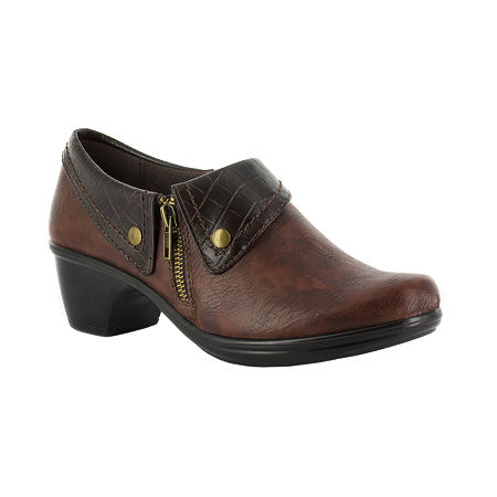 Easy Street Womens Darcy Slip-On Shoe, 8 1/2 Narrow, Brown