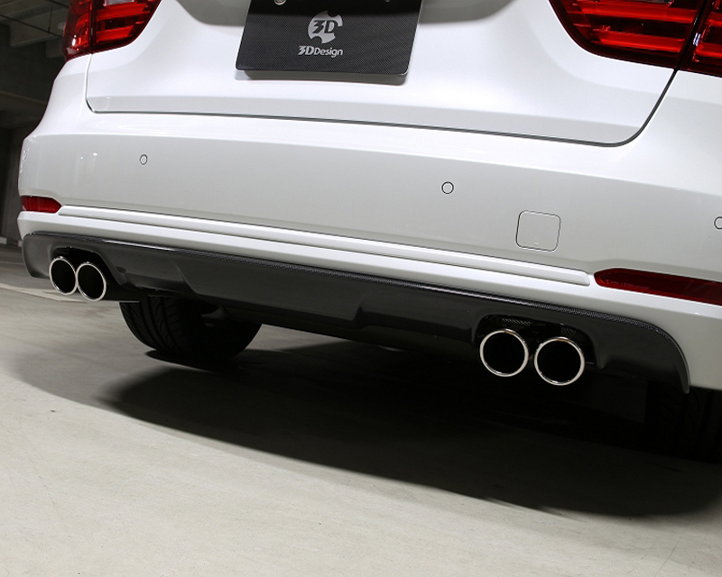 3D Design 3108-23421 Carbon Fiber Rear Diffuser Quad Tip BMW 4 Series F32 M Sport 14-15