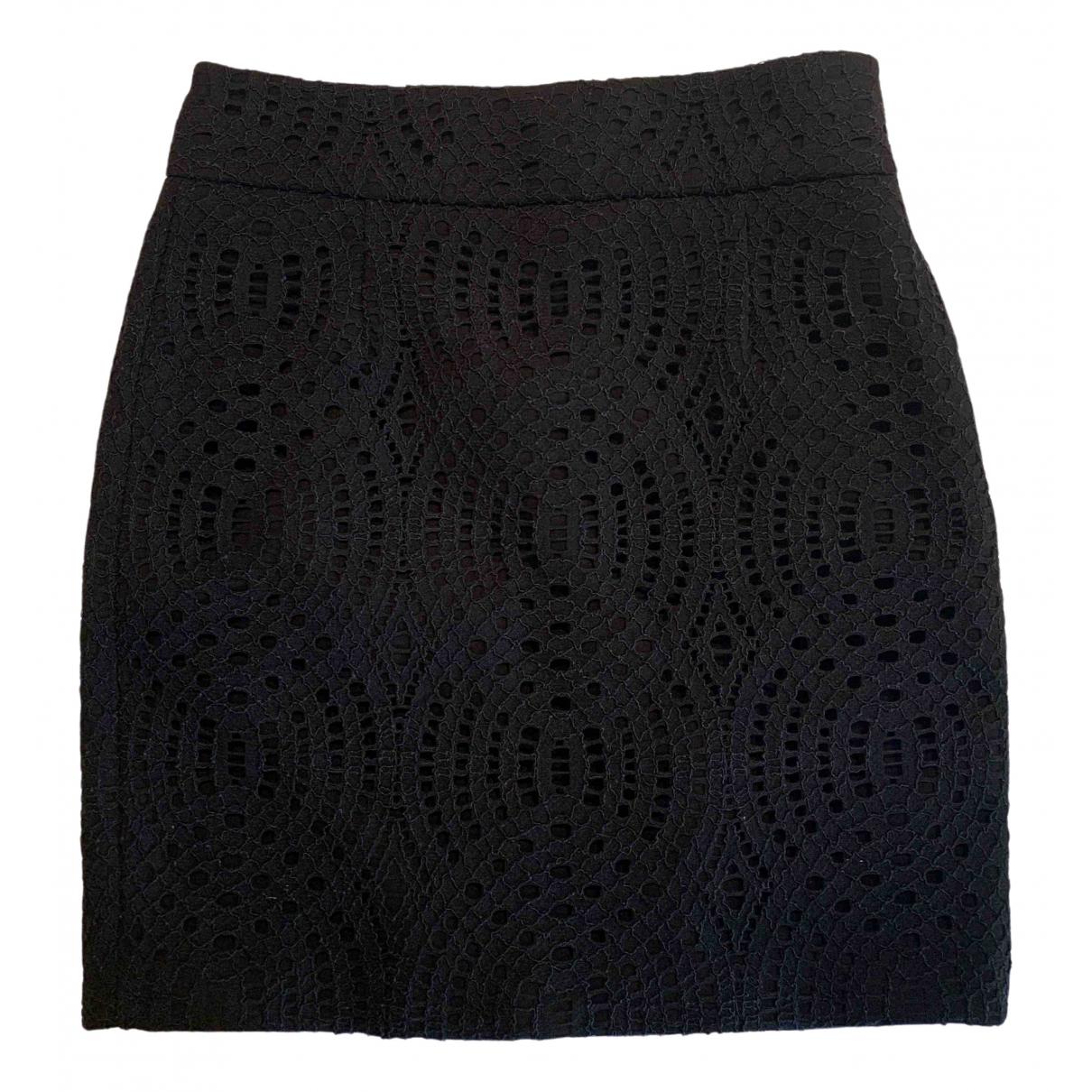 Maje \N Black Cotton skirt for Women 36 FR