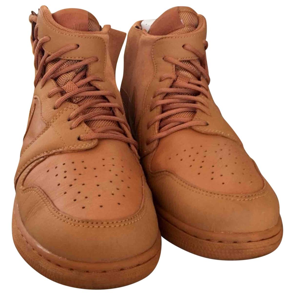 Jordan - Baskets Air Jordan 1  pour femme en cuir - orange