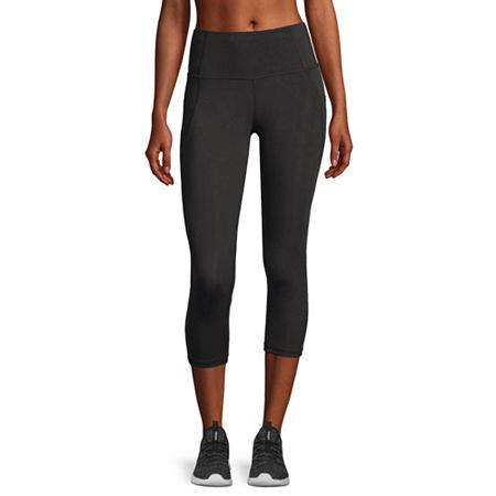 Xersion Move High Rise Workout Capris, X-small , Black