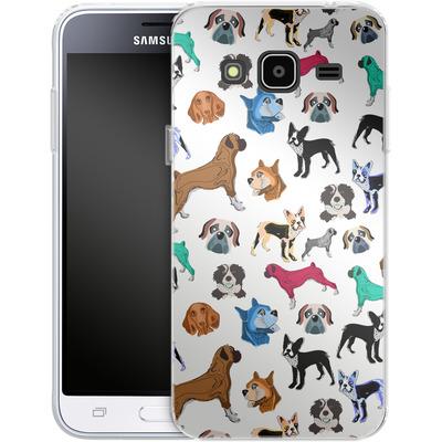 Samsung Galaxy J3 (2016) Silikon Handyhuelle - Puppy Love von Mukta Lata Barua