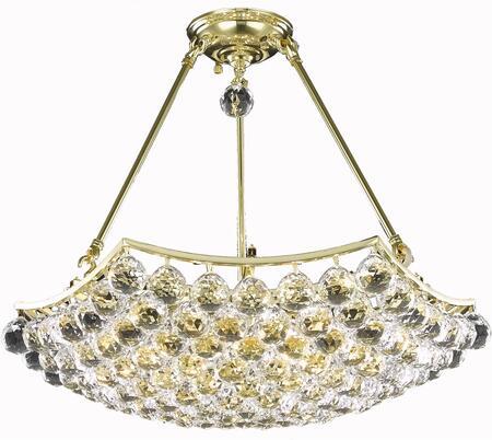 V9802D22G/EC 9802 Corona Collection Chandelier D:22In H:17In Lt:6 Gold Finish (Elegant Cut