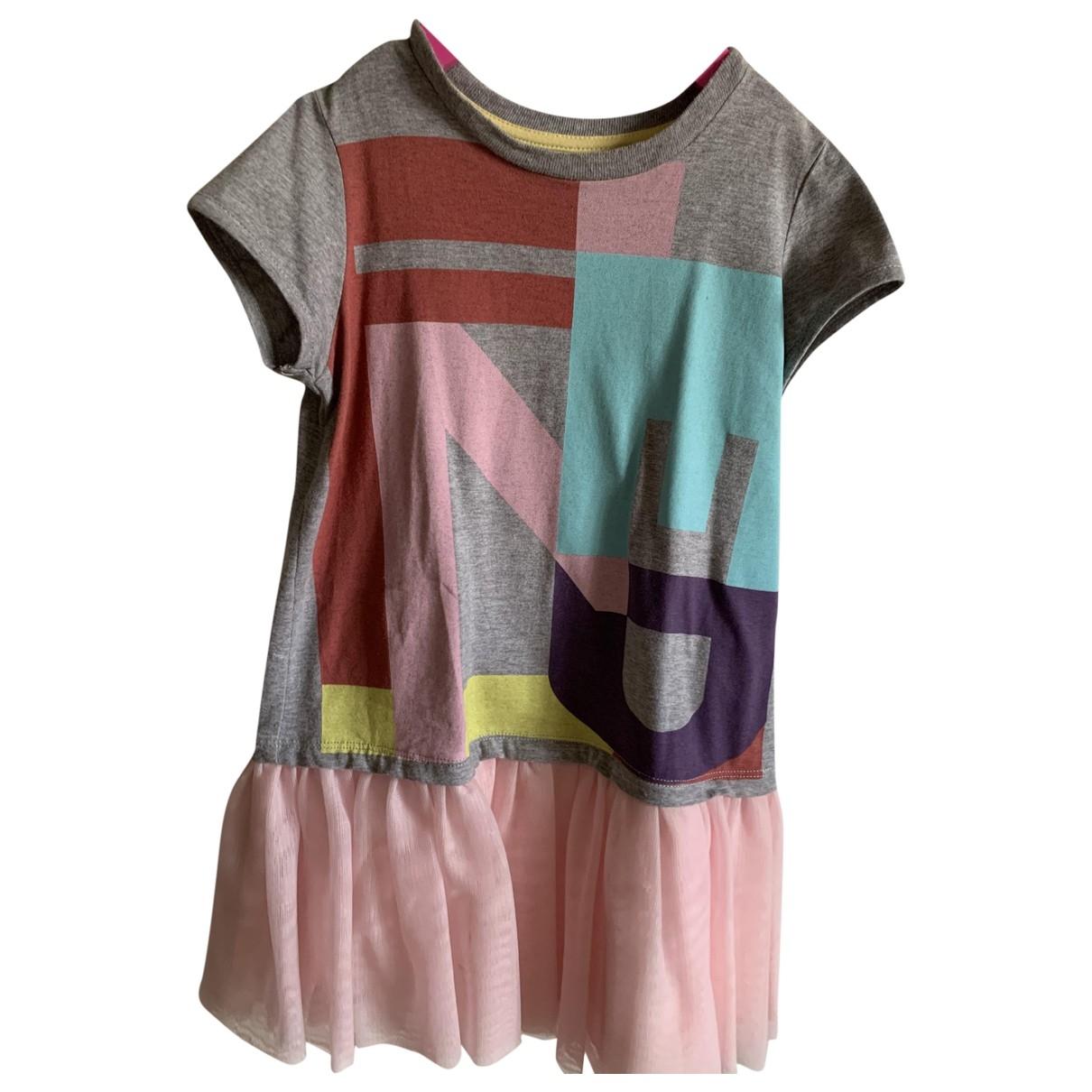 Fendi \N Kleid in  Grau Baumwolle - Elasthan