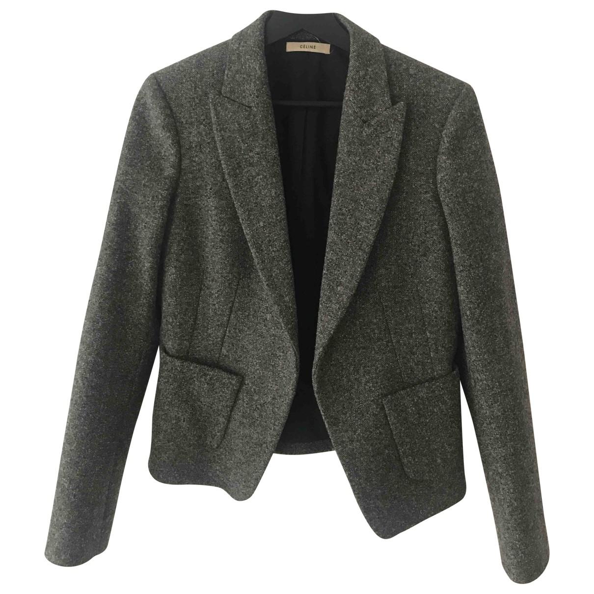 Celine \N Jacke in  Grau Wolle