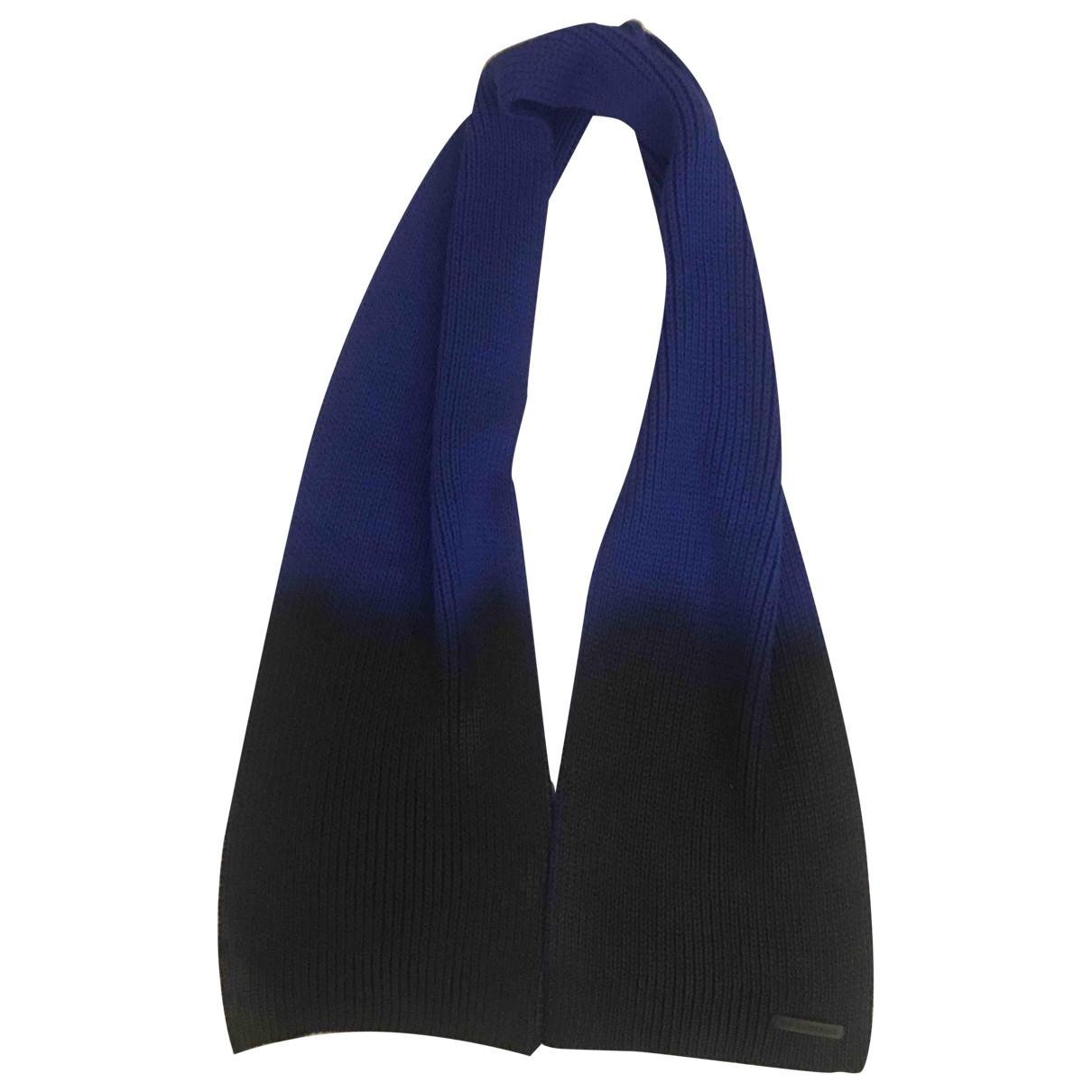 Emporio Armani - Cheches.Echarpes   pour homme en laine - bleu
