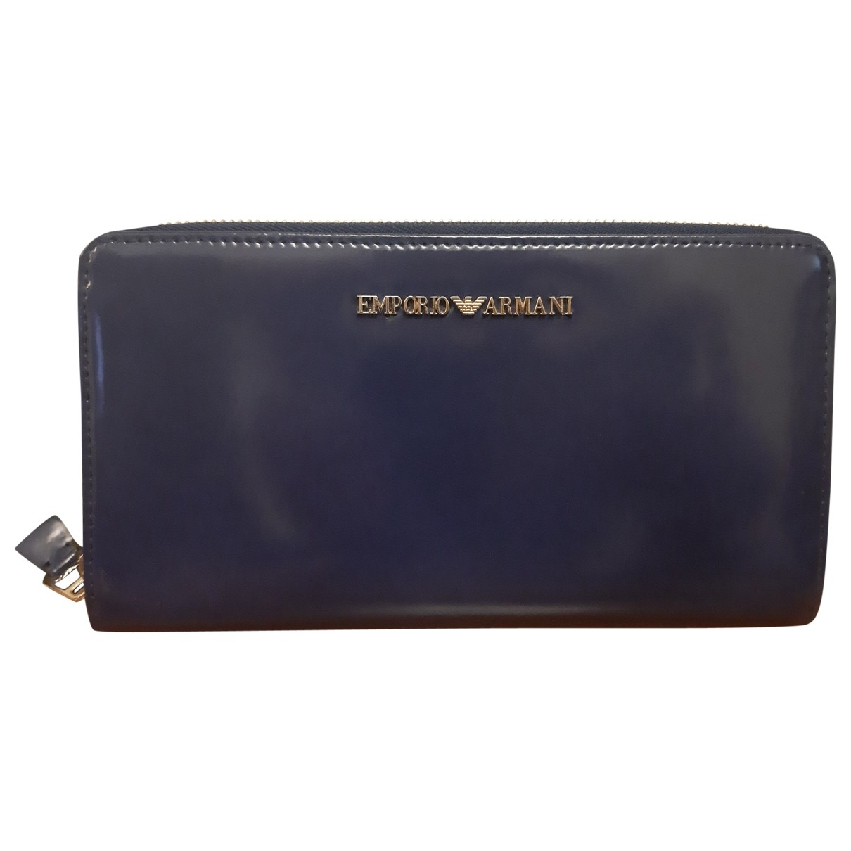 Emporio Armani \N Blue Patent leather wallet for Women \N