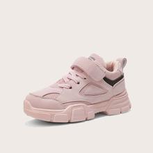 Maedchen Sneakers mit Klettverschluss und weiter Passform