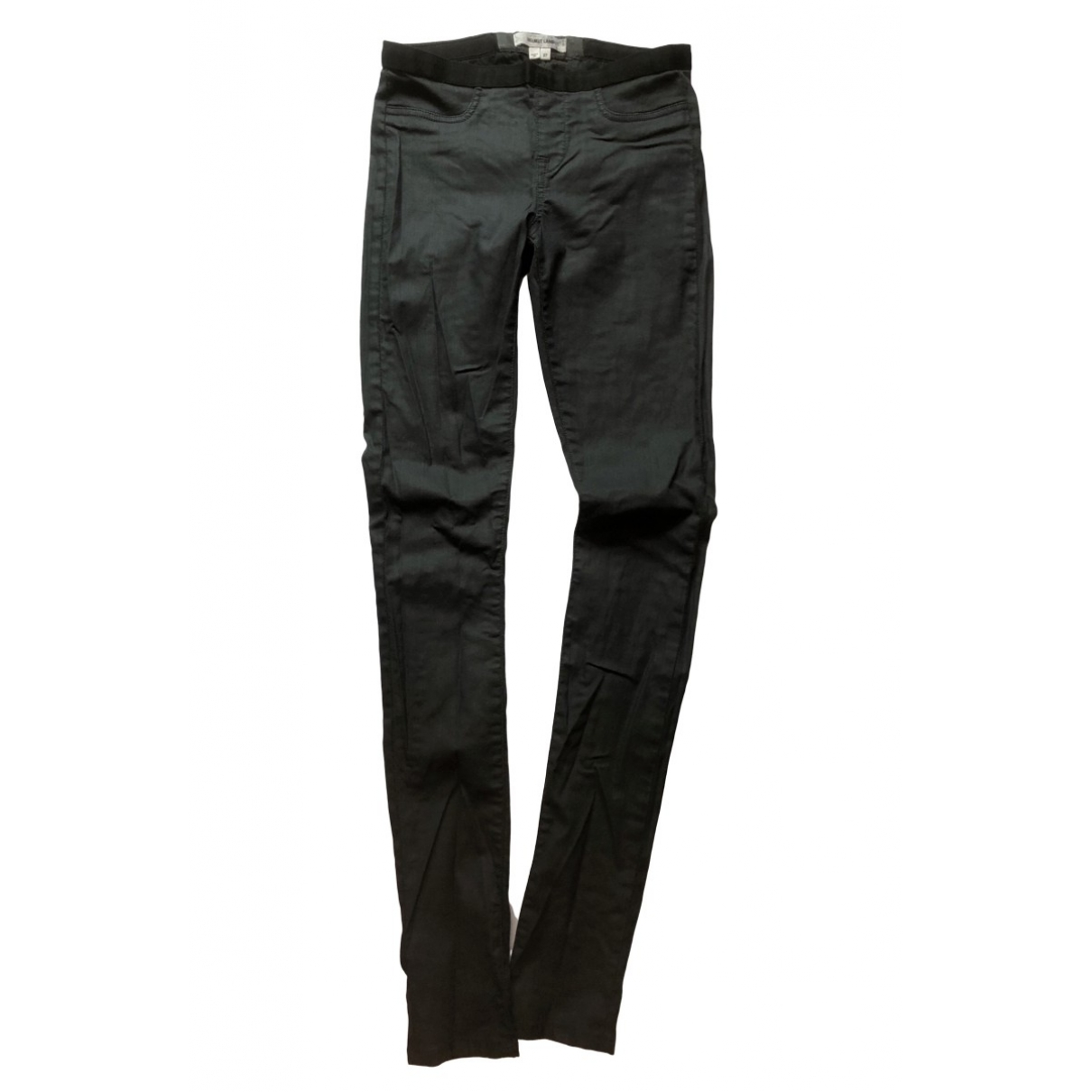 Helmut Lang \N Jeans in  Schwarz Polyester