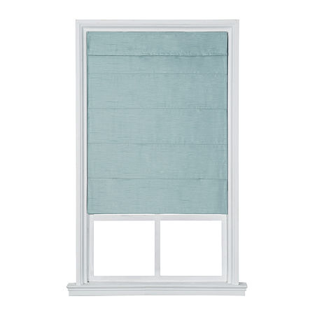 JCPenney Home Fauxsilk Room Darkening Cordless Roman Shade, One Size , Blue
