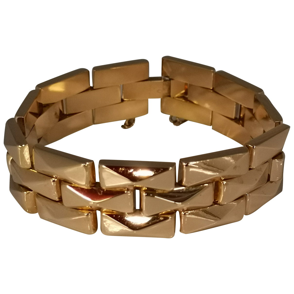 Non Signé / Unsigned Gourmette Pink Pink gold bracelet for Women N