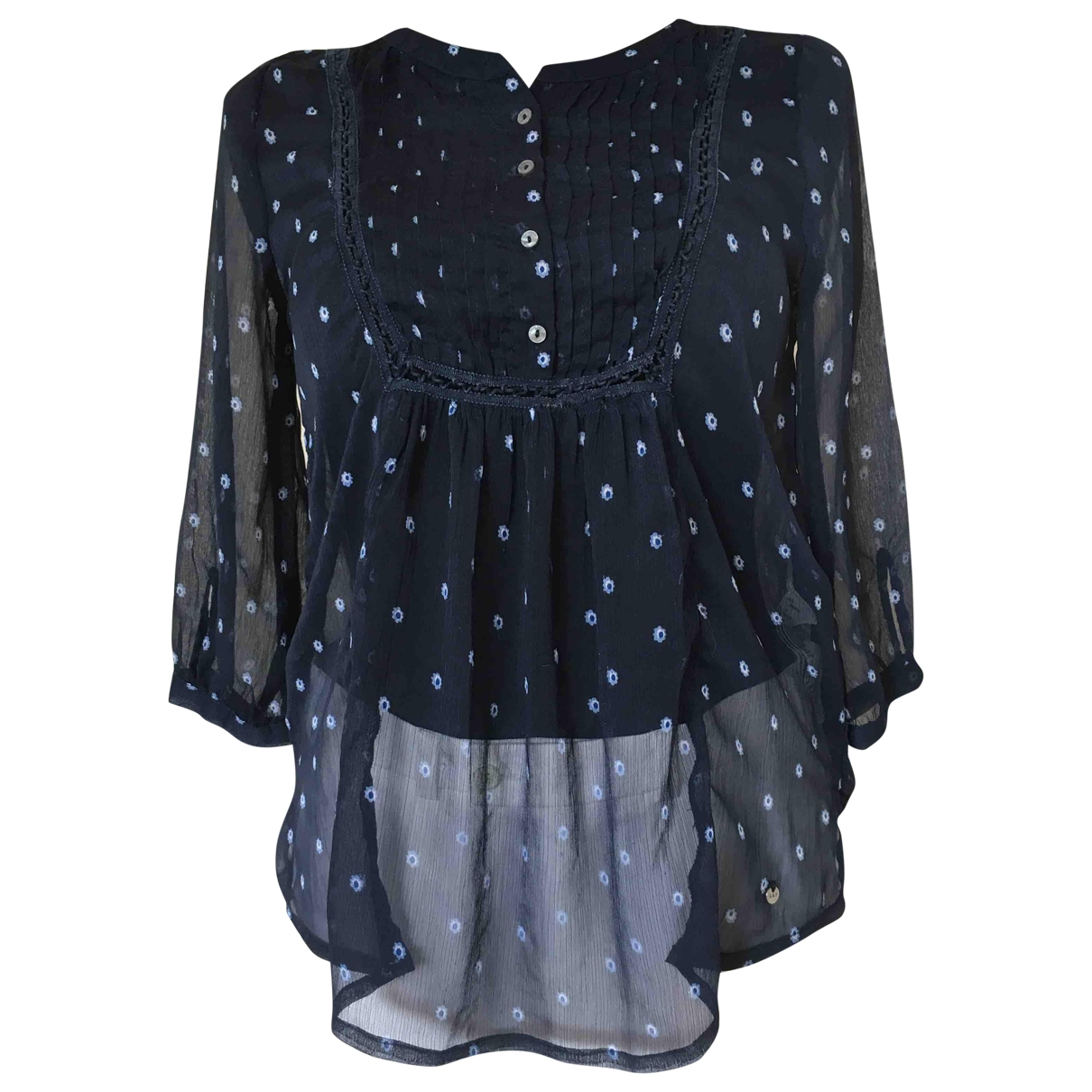 Abercrombie & Fitch \N Top in  Blau Polyester