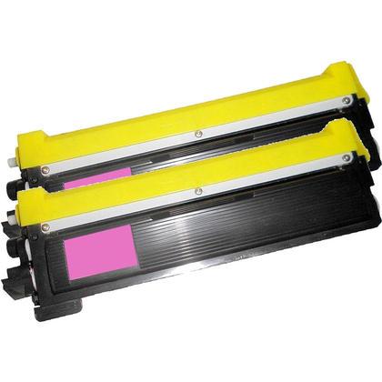 Compatible Brother TN-210 Toner Cartridge - Economical Box - Magenta-2/Pack