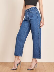 Mid Wash Baggy Jeans Without Belt
