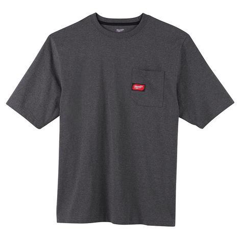 Milwaukee Heavy Duty Pocket T-Shirt - Short Sleeve - Gray M