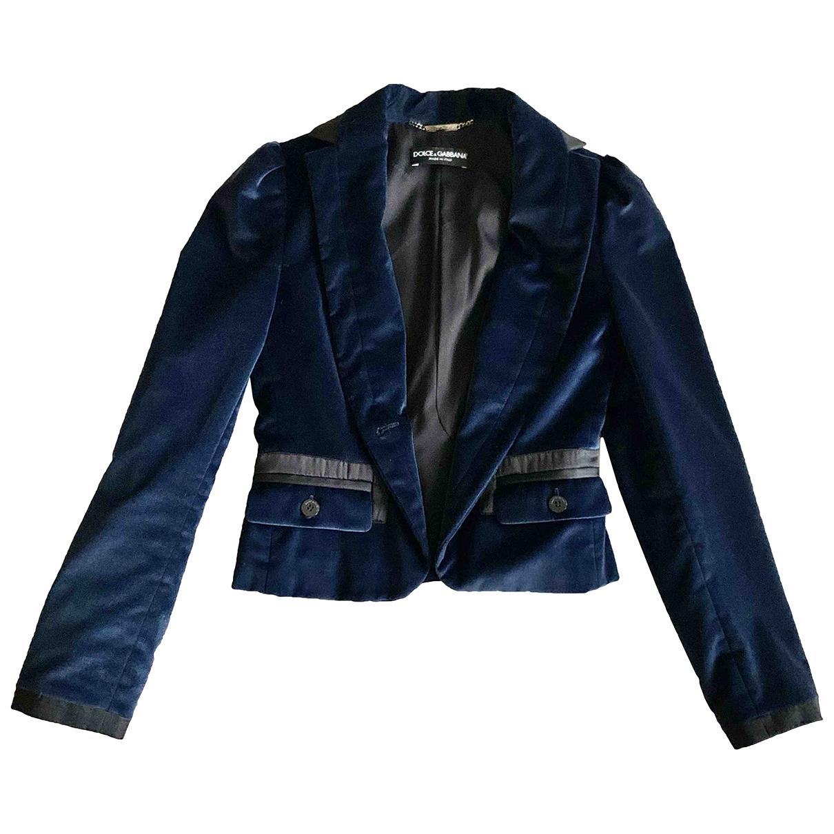Dolce & Gabbana \N Jacke in  Marine Baumwolle