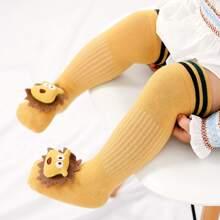 Baby Lange Socken mit Puppe Dekor