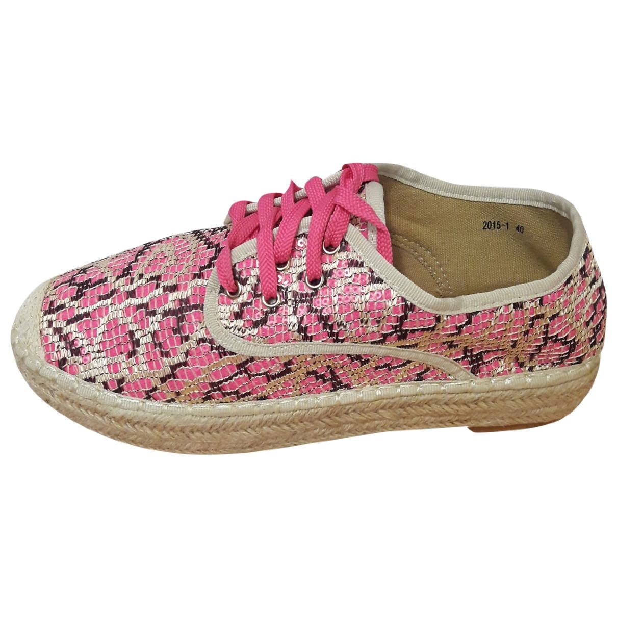 - Espadrilles Hippie Chic pour femme en toile - rose