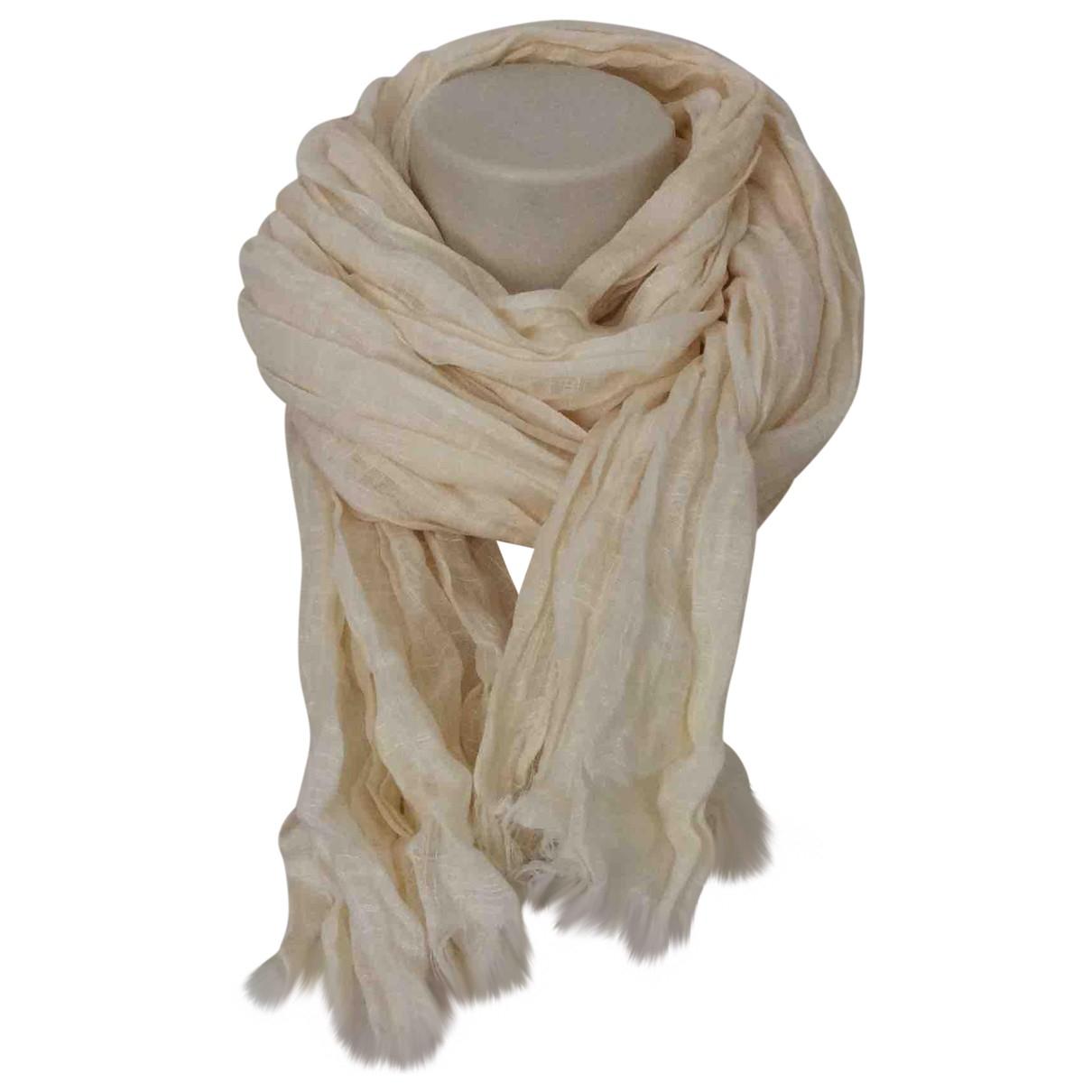 Max Mara \N Ecru Linen scarf for Women \N