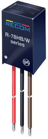 Recom Through Hole DC-DC Switching Regulator, 5V dc Output Voltage, 9 → 72V dc Input Voltage, 500mA Output