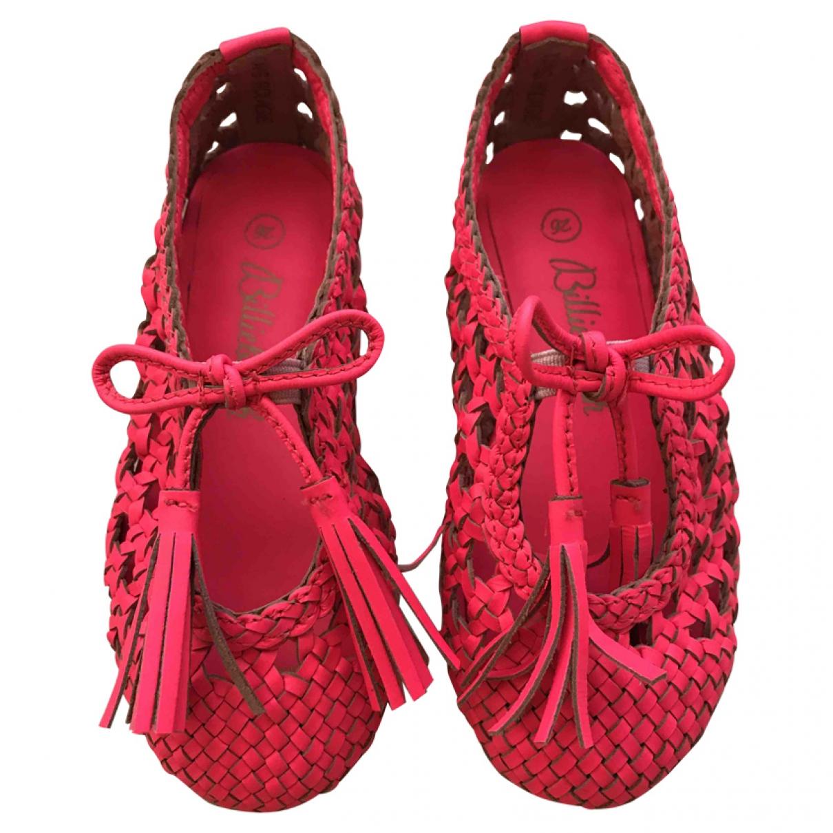 Billieblush - Premiers pas   pour enfant en cuir - rose