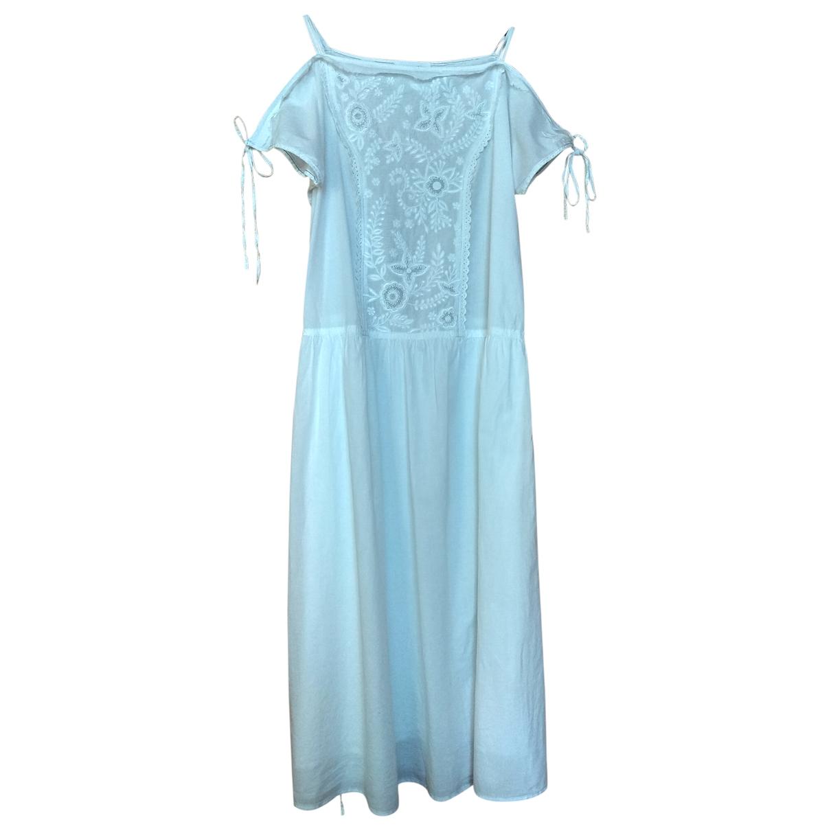 - Robe Hippie Chic pour femme en coton - blanc
